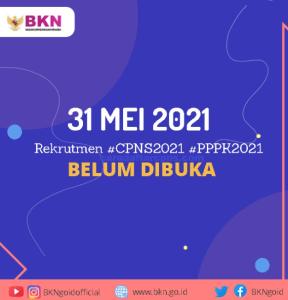 Pendaftaran CPNS dan PPPK 2021 Bukan 31 Mei