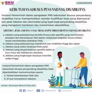 Formasi CPNS 2021 Untuk Penyandang Disabilitas