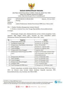 Jadwal dan syarat Pendaftaran PPPK Guru 2021