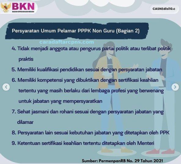 syarat Pendaftaran PPPK Non Guru