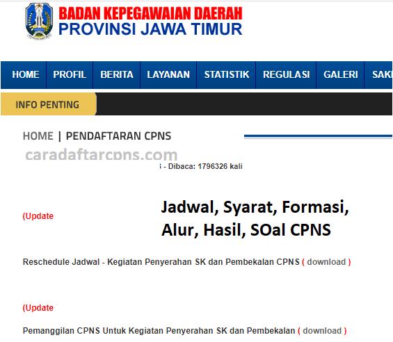 Pengumuman SKD CPNS PEMPROV JATIM 2021