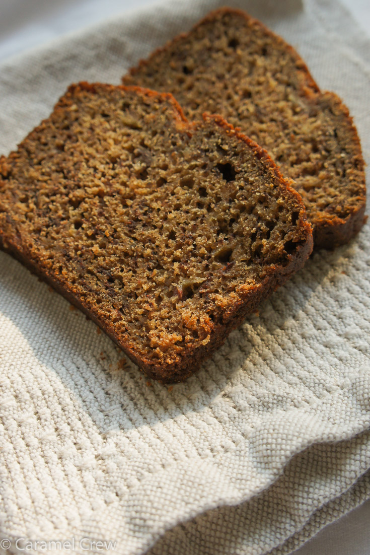 Easy banana bread recipe that can be customized by adding nuts, cranberries or even chocolate chips. Moist, soft texture has never been easier to achieve.