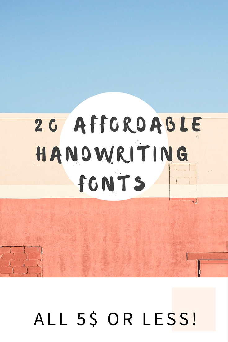 20 affordable handwriting fonts – Caramel Crew