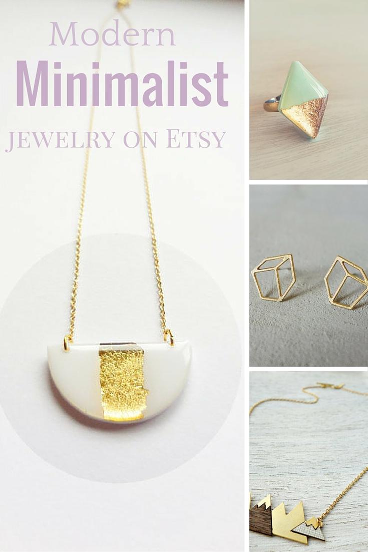 Modern minimalist jewelry designers on Etsy Caramel Crew