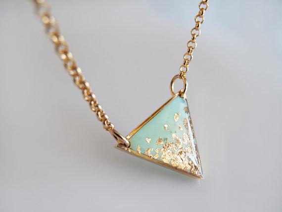 Gold foil detail jewelry by LamFaTiTa on Etsy