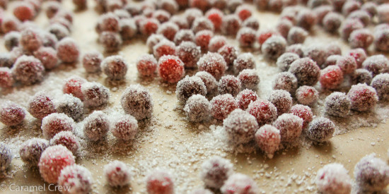 A simple sugared cranberries recipe - get perfectly sparkling, sugar-frosted, crunchy frosted cranberries!