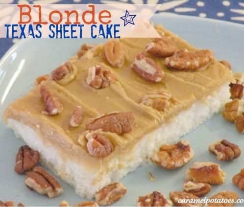 Blonde Texas Sheet Cake