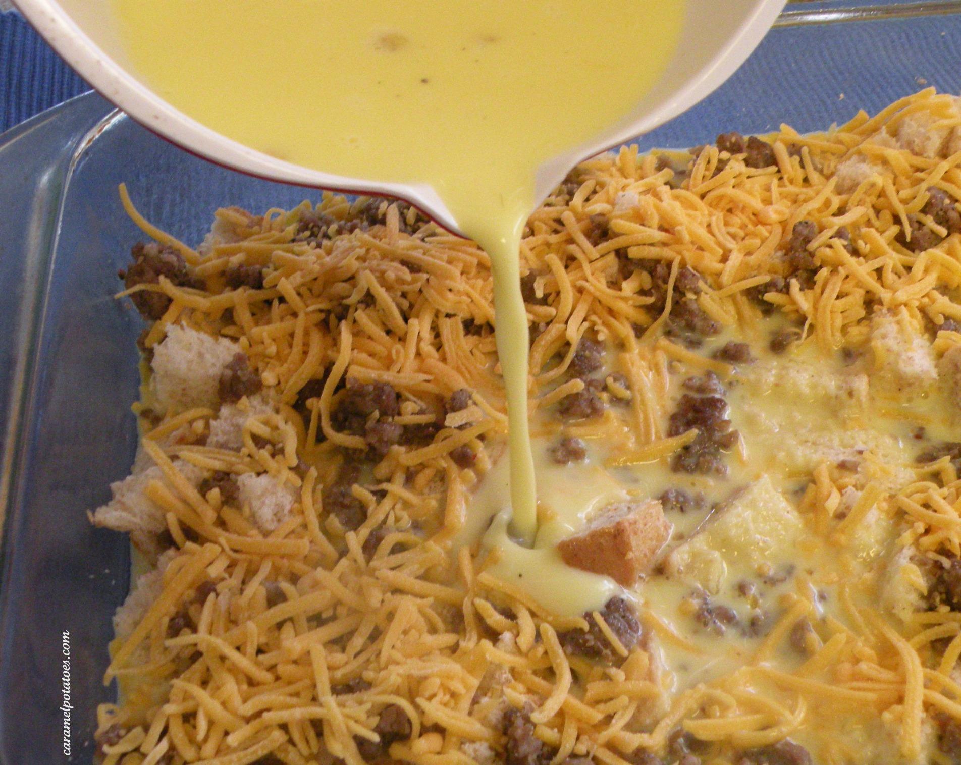cheese and sausage egg strata