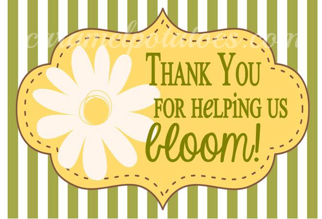 photograph relating to Thanks for Helping Me Bloom Printable referred to as Caramel Potatoes » BLOOM cost-free Printable for Instructor