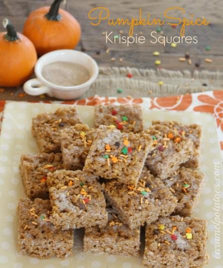 Caramel Potatoes » Pumpkin Spice Krispie Bars