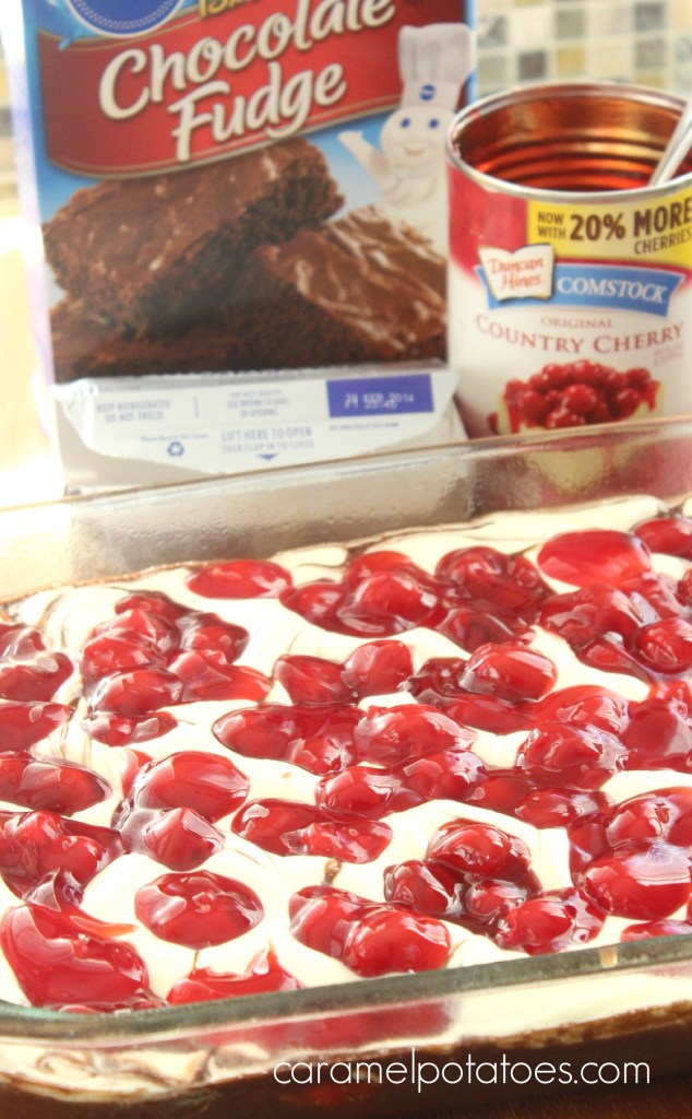 cherry cheesecake brownies 063