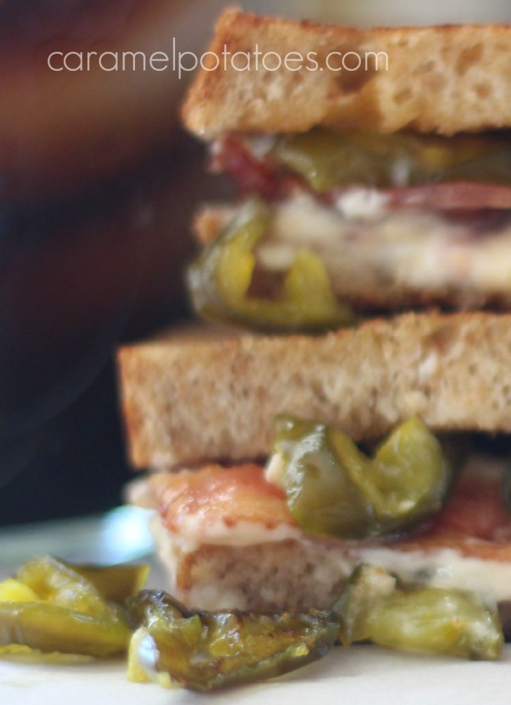 Grilled Pimento Cheese with Bacon and Candied Jalapenos