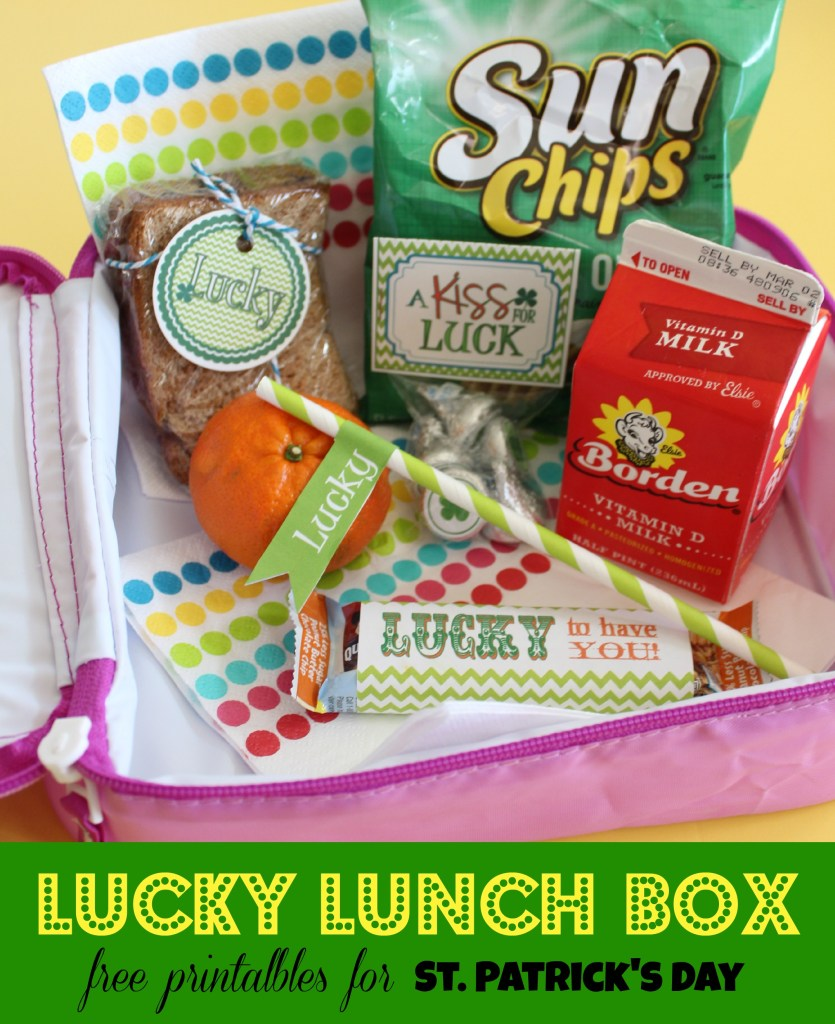 Lucky Lunch Box Collection of fee Printables for St. Patrick's Day