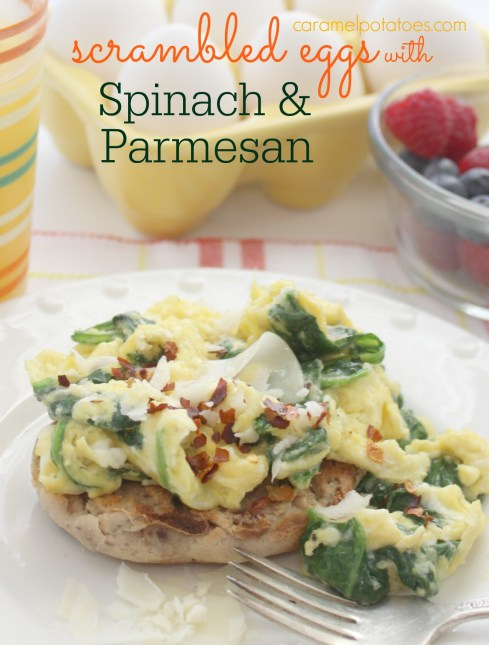 Scrambled Eggs with Spinach and Parmesan