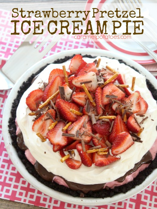 Strawberry Pretzel Ice Cream Pie 133