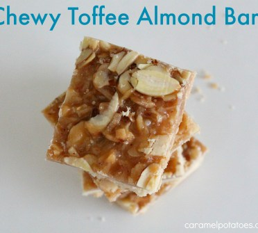 chewy toffee almond bars