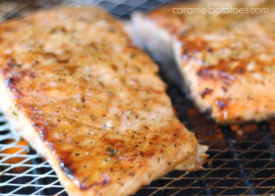 Maple Glazed Salmon on the Grill