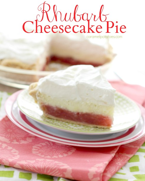 rhubarb cheesecake pie