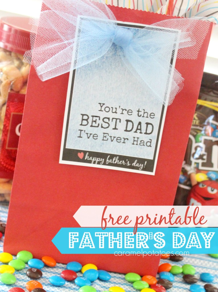 BEST DAD ever- fast and fun free printable for Father's Day!