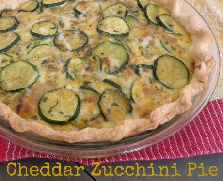 Cheddar Zucchini Pie
