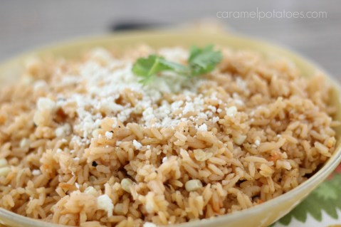Mexican Rice with Cotija Cheese