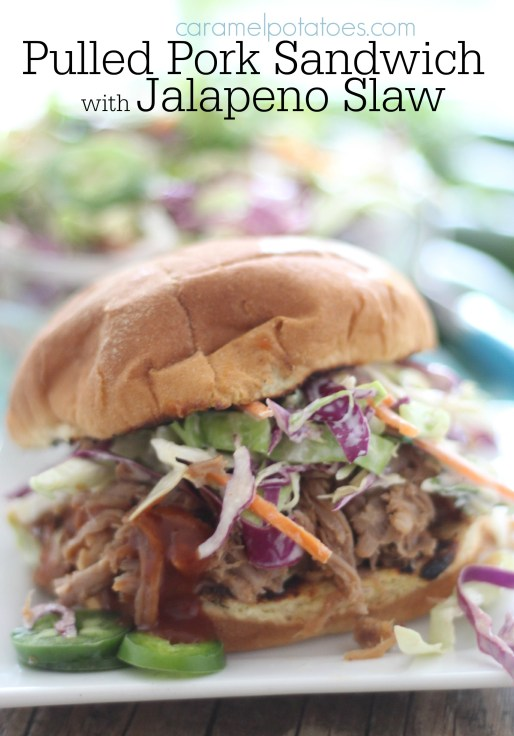 Pulled Pork Sandwich with Jalapeno Slaw