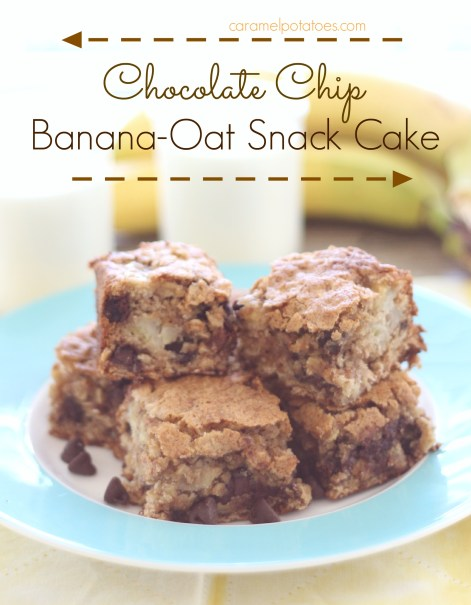 Chocolate Chip Banana Oat Snack Cake