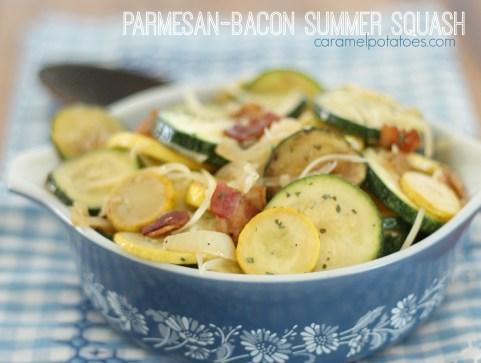 Parmesan Bacon Summer Squash