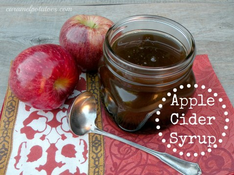Apple Cider Syrup - So easy and makes the best syrup!  Try it on Pumpkin Waffles.  Tastes great on french toast and pancakes too!