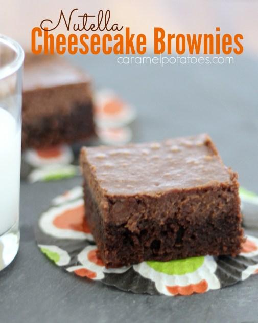 nutella cheesecake brownies 035