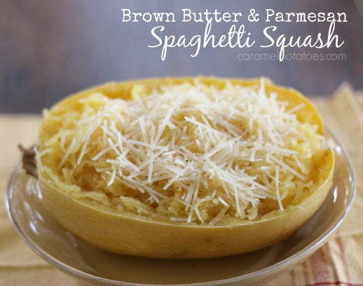 Brown Butter and Parmesan Spaghetti Squash