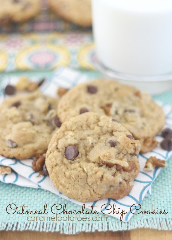 Caramel Potatoes » Oatmeal Chocolate Chip Cookies