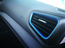 Detalle azul aireadores Ioniq