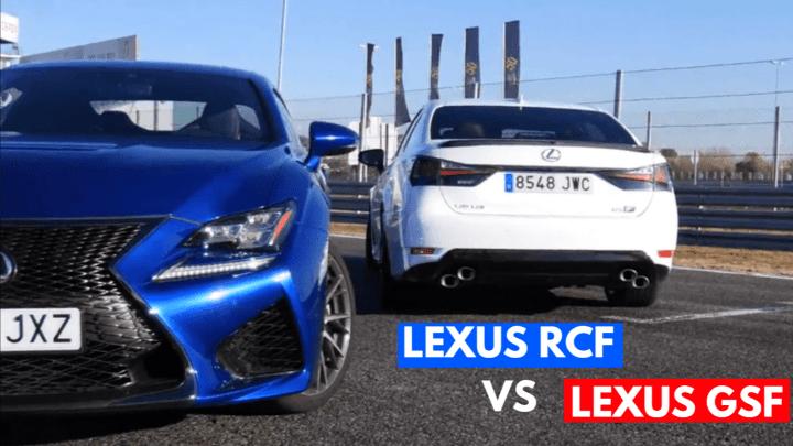 Lexus RC F vs Lexus GS F Track Battle A