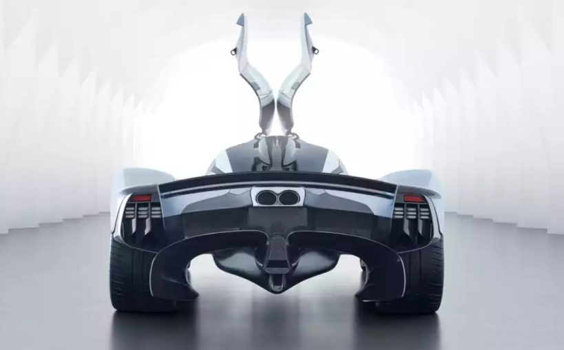 Vista trasera Aston Martin Valkyrie