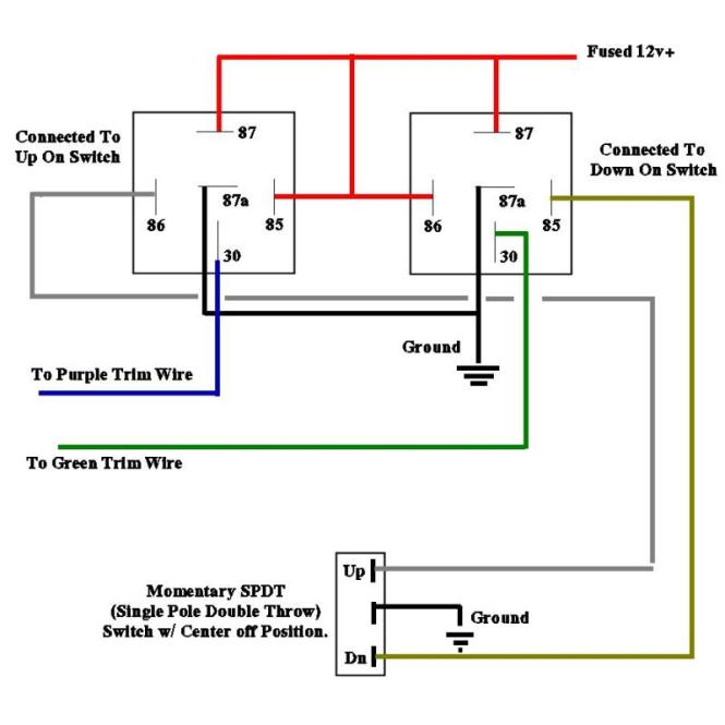 auto electrical relays wiring diagrams wiring diagram basic wiring queenz kustomz 4 wire reversal door locks relay diagram source