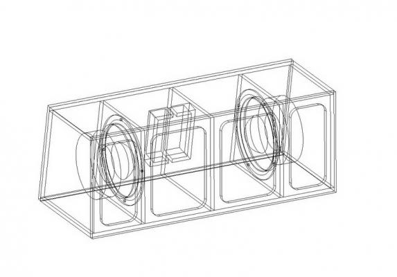 งานออกแบบตู้ Bandpass 3 Chambers ด้วยโปรแกรม BassBox Pro