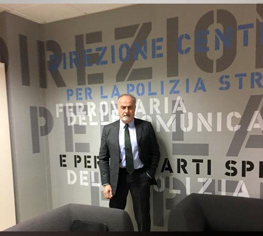 PRES. ALFONSO GIFUNI PRESSO LA SEDE CENTRALE  DELLA POLIZIA STRADALE
