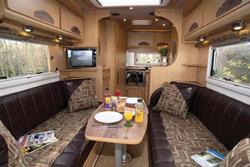 IH J220 motorhome interior