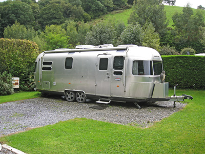 An airstream was on site at the time of our visit