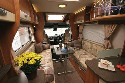 Bentley Donnington living area looking forwards