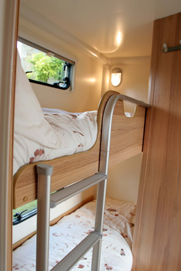 Bailey Olympus 2 bunks with lights and windows