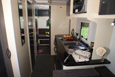 Stealth T58 Caravan kitchen
