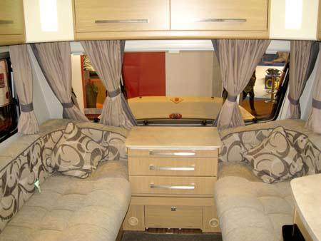 Elddis Avante 574 kitchen front lounge