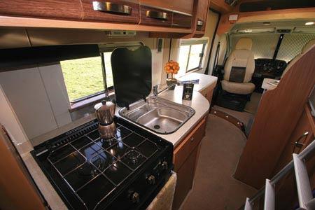 Autocruise Quartet kitchen