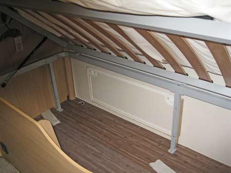 Elddis Avante 574 Plenty of underbed storage