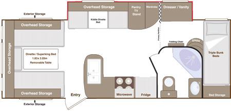 Eterniti 6 berth floorplan