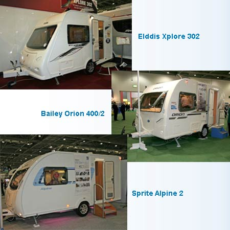 three caravan models collage