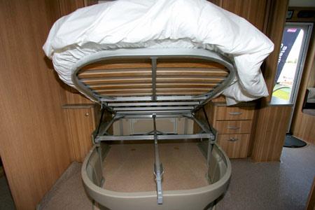 Sterling Eccles Sport 584 Caravan Island Bed Storage