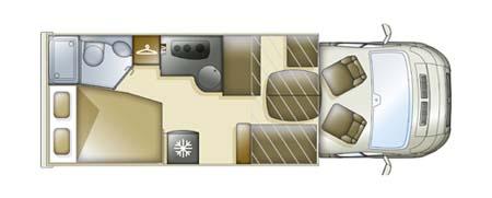 Pilote Reference P716LPR Motorhome floor plan
